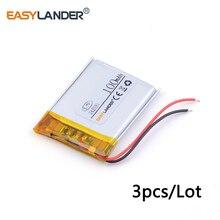 3pcs /Lot 3.7v lithium Li ion polymer rechargeable battery 242030 100mAh Bluetooth mini speaker small toys spreadsheet