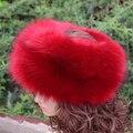 Новая мода искусственного меха хафф многоцветный гладкий теплый мягкий высокое качество искусственный мех hat зима женщины пушистые головки украшения мода