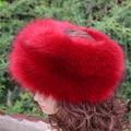 Nueva moda faux fur huff multicolores elegante caliente suave sombrero de piel sintética de invierno de las mujeres de calidad superior mullido cabeza decoración de la manera