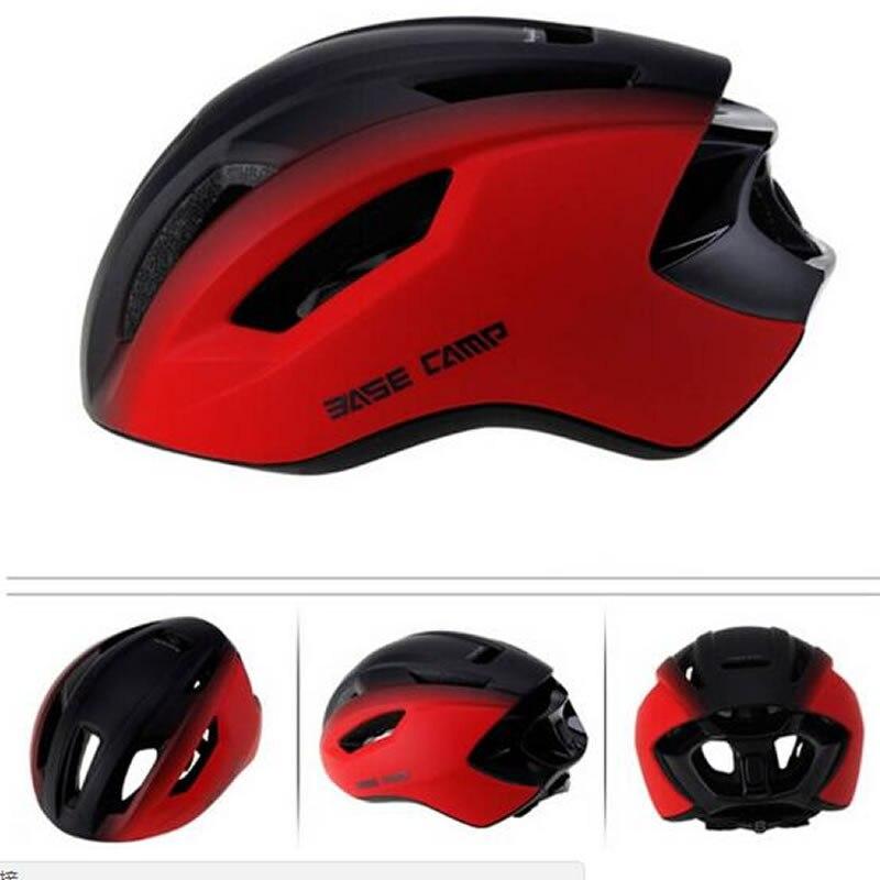をベースキャンプ自転車ヘルメット男性女性超軽量自転車ヘルメット保護一体成形 MTB ヘルメット調整可能なサイクリングヘルメット  グループ上の スポーツ & エンターテイメント からの 自転車用ヘルメット の中 1