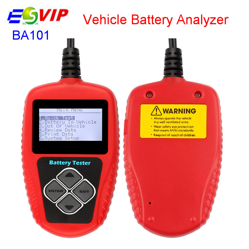 High Quality QUICKLYNKS BA101 Automotive 12V Vehicle Battery Tester scanner free shipping