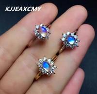 KJJEAXCMY moonstone rings, natural gemstone ladies, S925 sterling silver wholesale jewelry, silver jewelry