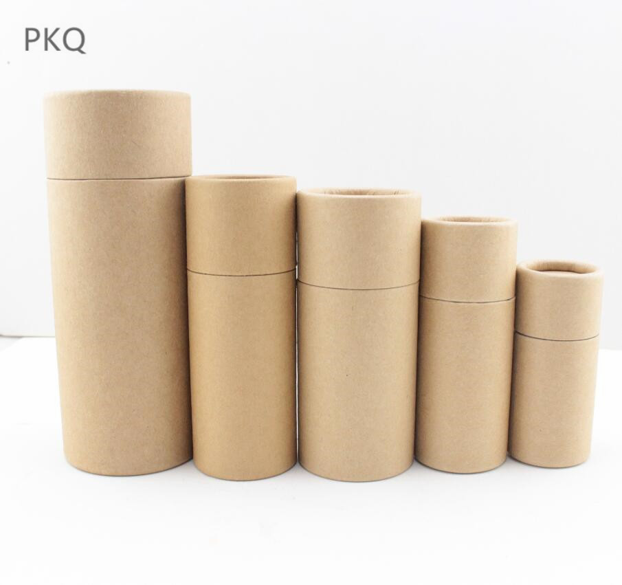 10ml 20ml 30ml 50ml 100ml Postal Mailing Paper Cardboard Canister Tube Cylindar Round Jar Packaging Gift Box 6 Sizes 6 Colors