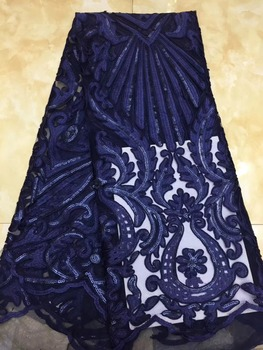 Newest African Tulle Lace Fabrics With sequins Embroidery Net Lace African French Lace High Quality Nerian Tulle Wedding