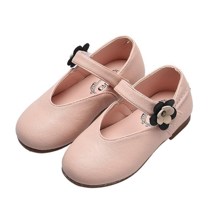Kinder Schuhe Neue Marke Kinder Leder Schuhe Kleinkind Mädchen Blume Tanz Schuhe Rosa Schwarz Party Kleid Turnschuhe Mädchen