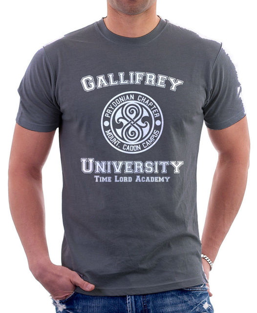 Gallifrey universidad de Señor del tiempo la Academia parodia carbón nuevo  Tops 2019 las letras impresión algodón los hombres Bob Marley T camisas