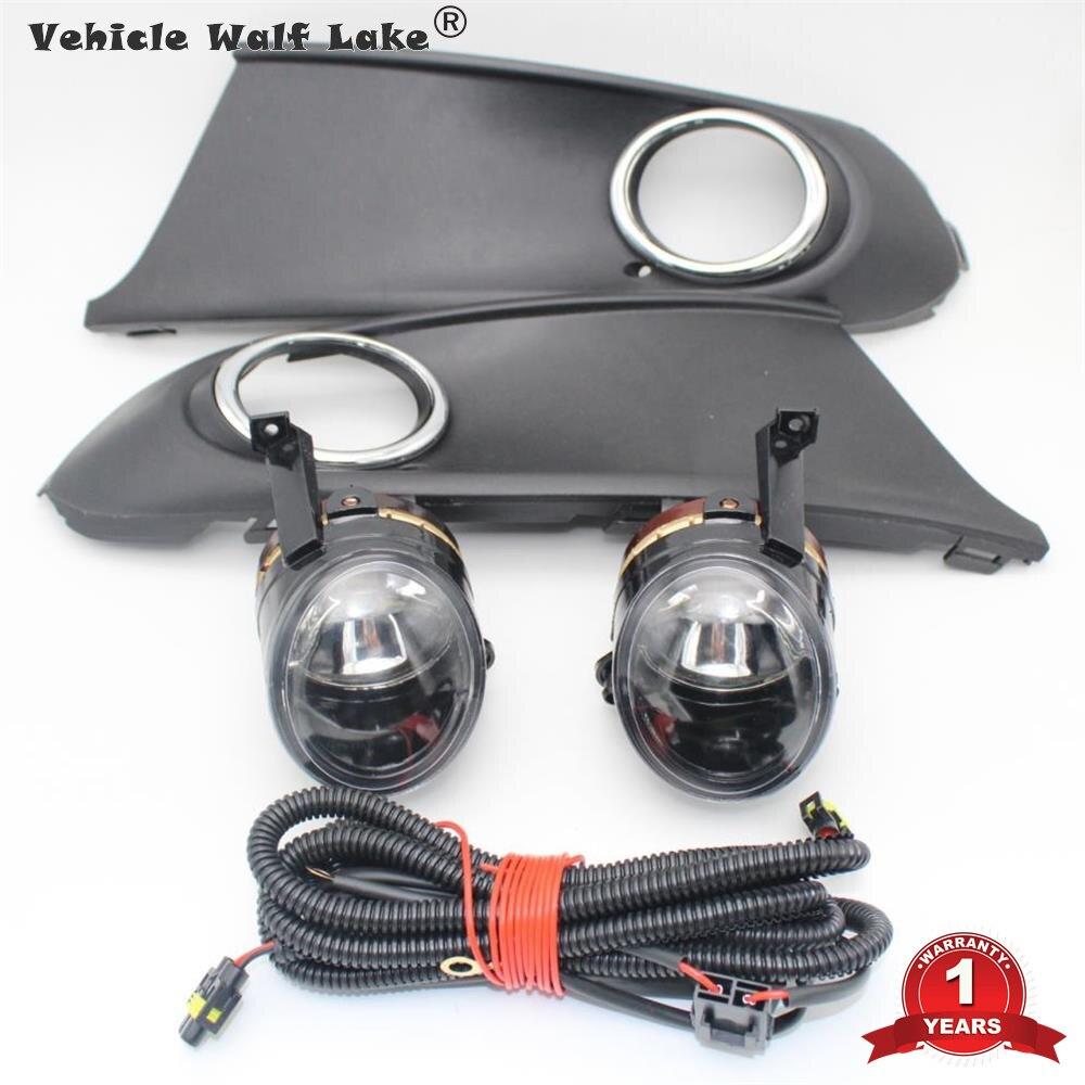 Car Light For VW Polo Vento Sedan Saloon 2011 2012 2013 2014 2015 2016 Fog Light Fog Lamp Fog Light Grille And Wire Assembly