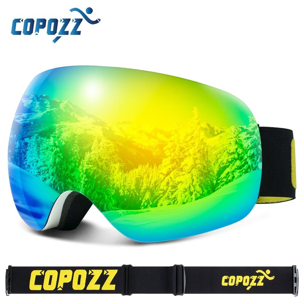 Delle Donne degli uomini di Occhiali Da Sci Frameless Outdoor Sport Sci Occhiali Grande Viso Motoslitta UV Anti-Fog Neve Occhiali Da Sole Snowboard Occhiali