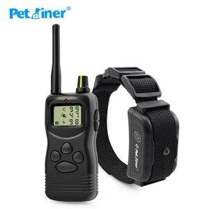 Image 1 - Petrainer 900B 1 vendita calda elettrico a distanza di controllo pet sistema del collare di addestramento del cane con display lcd 1000M