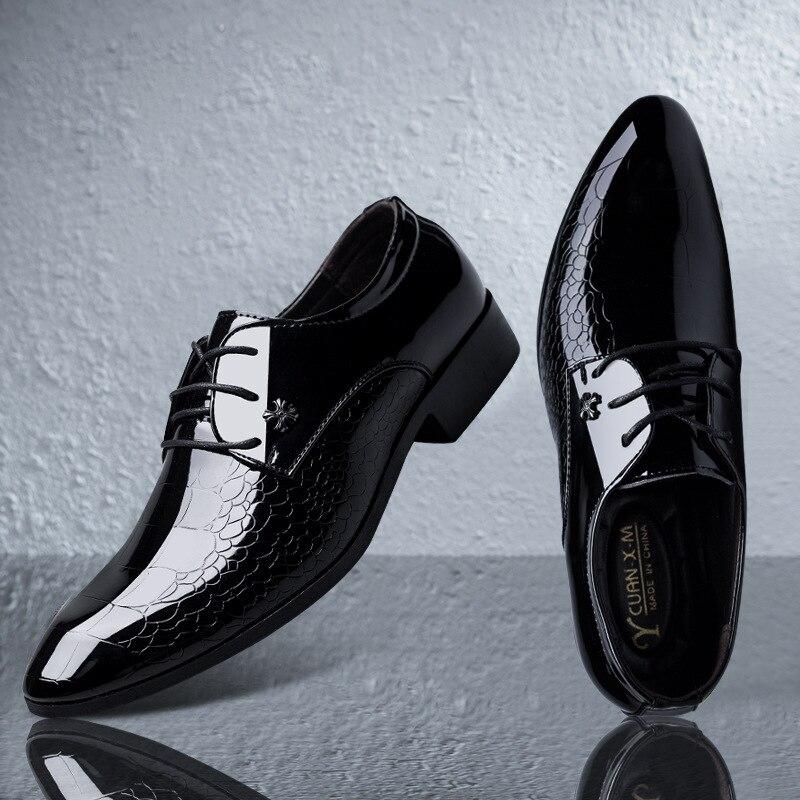 BACKCAMEL новые мужские деловые модельные туфли большой размер отметил Яркий лицо Groomsmen жених свадебные туфли мужская обувь на плоской подошве ...
