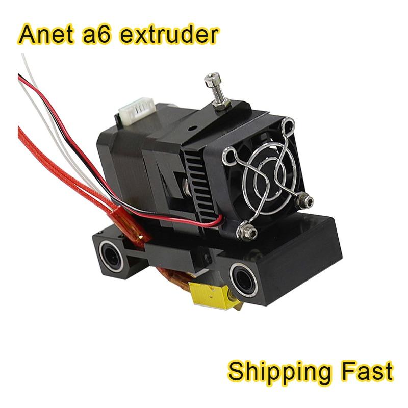 Anet A6 titan Extruder 3D Printer Head MK8 single J-head Hotend Nozzle extrusor 1.75/3mm abs/pla Extra Nozzle 42 step motor part недорго, оригинальная цена