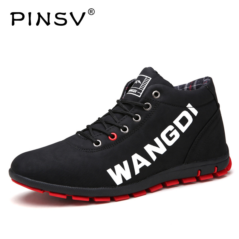 PINSV Winter Boots Men Shoes Black Short Plush Ankle Boots Men Winter Shoes Men Snow Botas Hombre Erkek Bot Size 39-44 цены онлайн