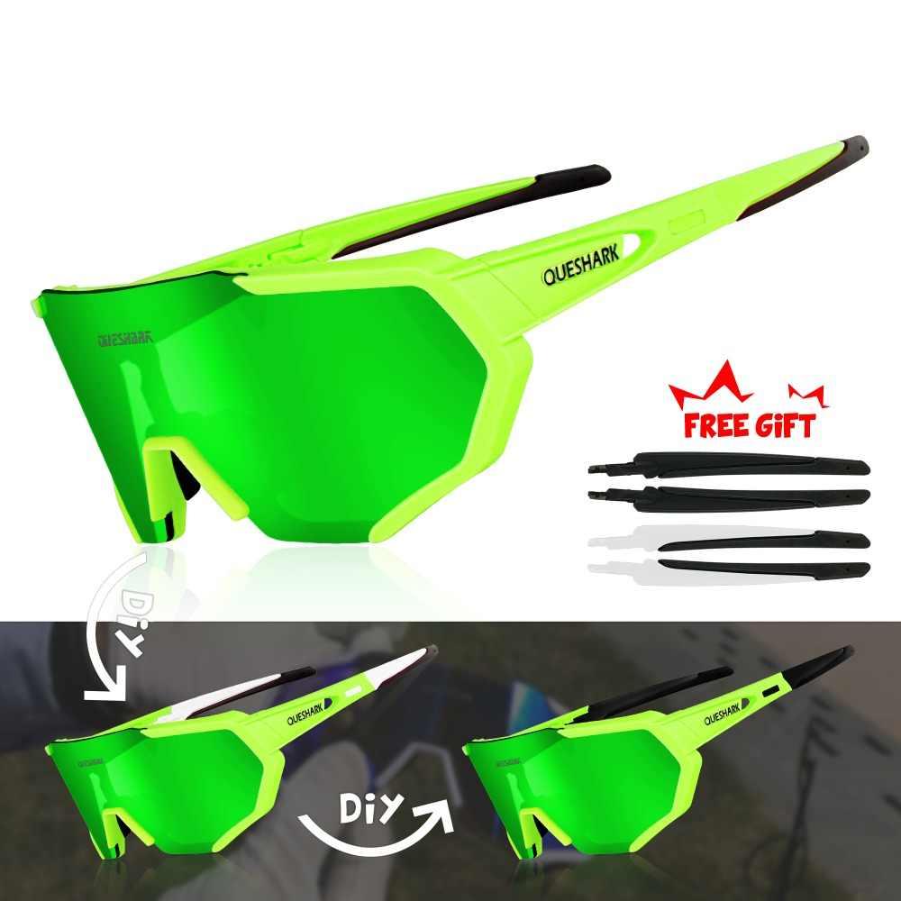 3c4c5de7e8 ... QUESHARK 2019 nuevo diseño polarizado gafas ciclismo para hombre mujer  bicicleta gafas ciclismo gafas de sol ...