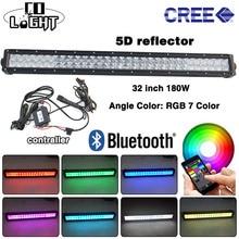 CO LICHT 5D RGB Led-lichtleiste 32 inch 180 Watt Led Chip Spot Flut strahl für 4×4 4WD Jeep Suv ATV 12 v 24 v Fahren Streifen CE ROHS FCC
