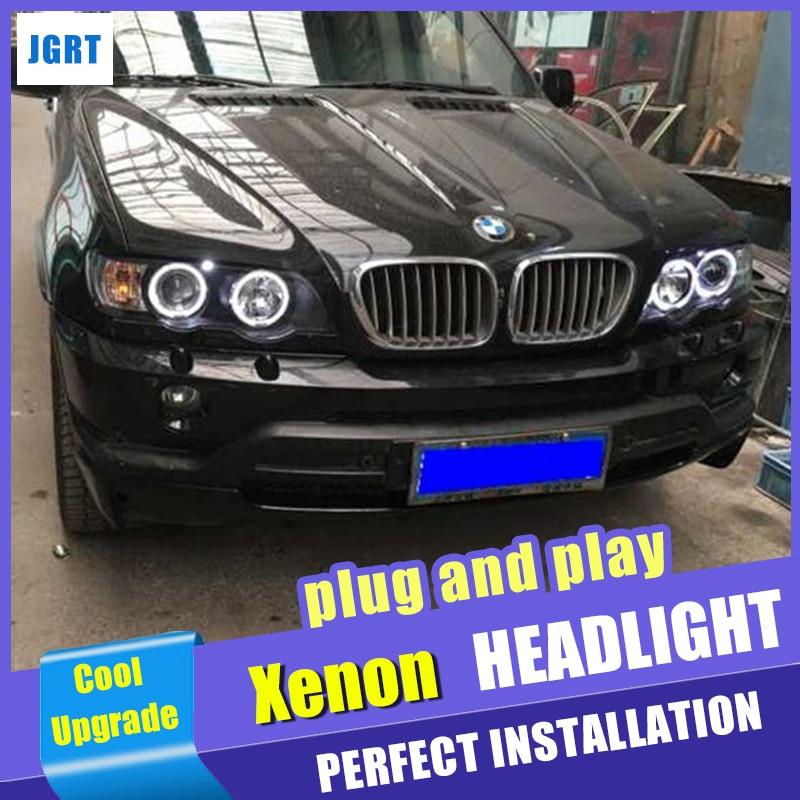 Новый автомобиль стиль для BMW X5 фары 2000 2003 для BMW X5 головы лампа автоматическая светодиодная DRL двойной луч H7 Ксеноновые bi Xenon объектива