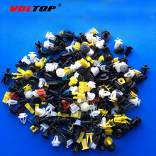 VOLTOP 200pcs Car Clips Auto Bumper Retainer Fastener Door Panel Rivet Push Plastic Buckle Trim Board Doornails Mixed Packing