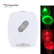 Motion Sensor Toiletbril Verlichting 2 Kleuren Batterij Operated Wc Deksel Inductie Backlight Voor Toiletpot Badkamer Nachtlampje
