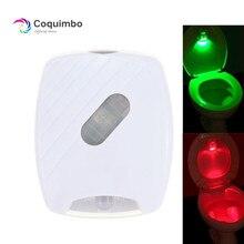 Sensore di movimento Sedile del Water di Illuminazione 2 Colori Battery Operated Coperchio del Wc Induzione Retroilluminazione Per Wc Ciotola Bagno Luce di Notte