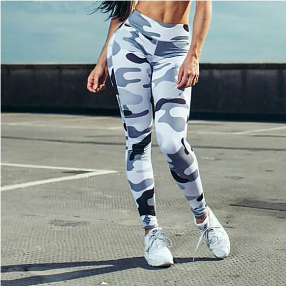 Ins Hot Fashion Workout Leggings For Women High Waist Push Up Legging Camouflage Printed Female Fitness Pants Casual Trousers 1