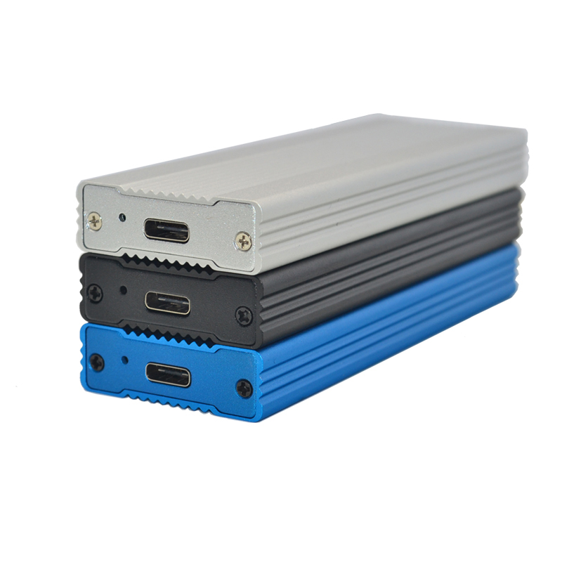 NVME M 2 Enclosure Full Aluminium HDD Enclosure HDD Case Mobile HDD Box TYPE C 3 1 ASM2362 m 2 USB3 1 PCIE SSD TYPEC SSD M2 Case