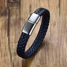 Высококачественный модный мужской индивидуальный браслет черный