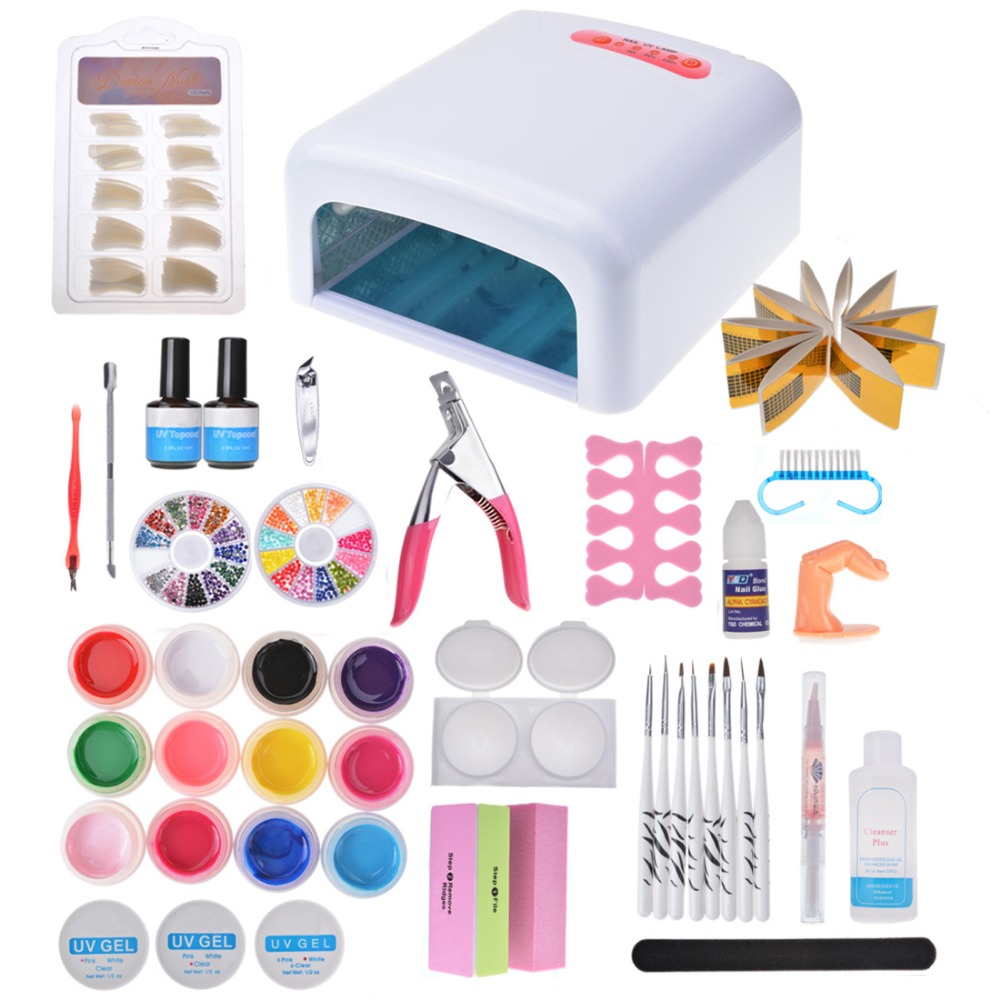 Biutee Pro 36W UV Lamp Dryer Acrylic Nail Art Set ,Acrylic