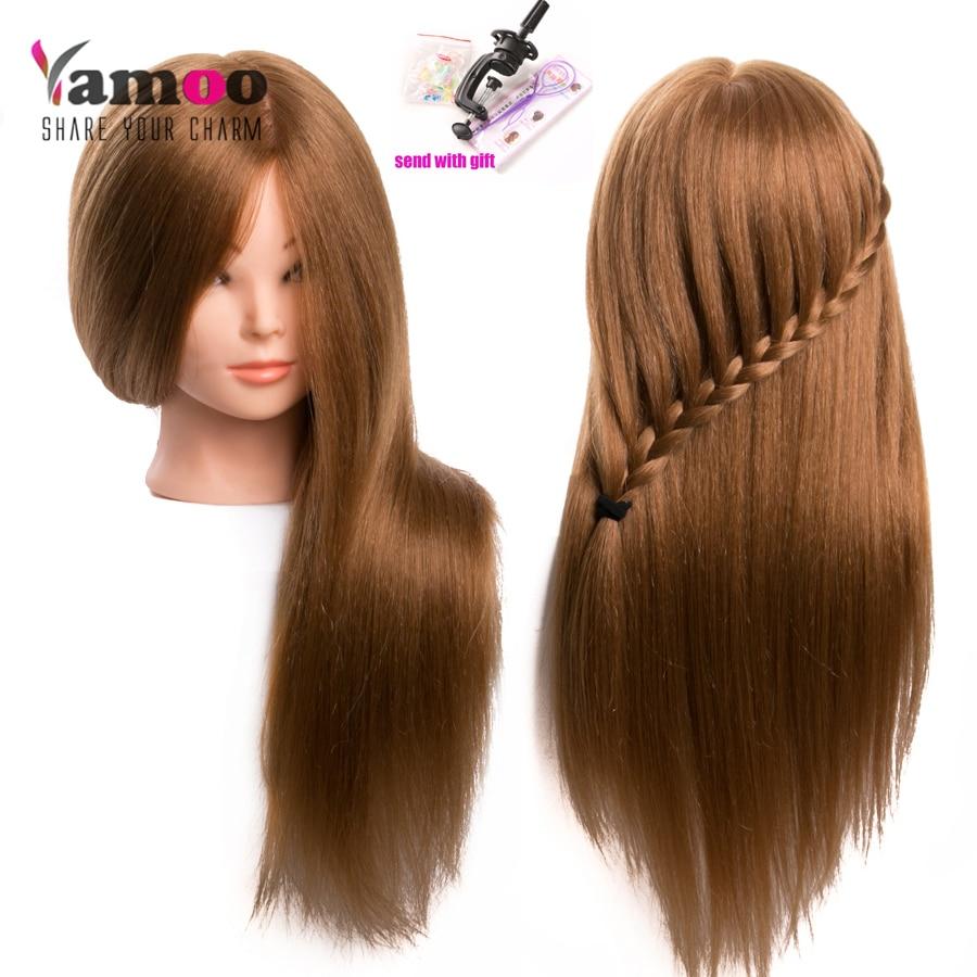 60 % 진짜 인간의 머리 미용사에 대 한 머리 인형 - 모발 관리 및 스타일링