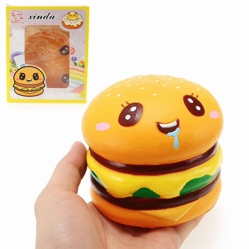 Best Deal Xinda Soft Hamburger 9cm Burger Collection Slow Rising With Packaging Gift Decor Soft Toy Phone Straps Best Gift