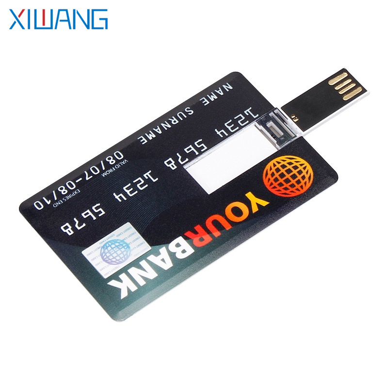 usb stick Bank Credit Card USB Flash Drive 4GB 8GB 16GB 32GB 64GB 128GB pen drive Slim flash memory free delivery custom logo in USB Flash Drives from Computer Office