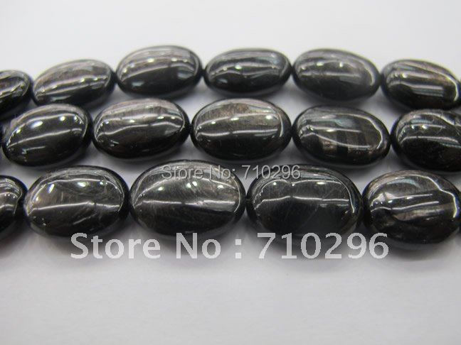 Semi Precious Stone 3 strands lot Hypersthene 15x20 mm Oval Semi everlast Beads 40 cm str