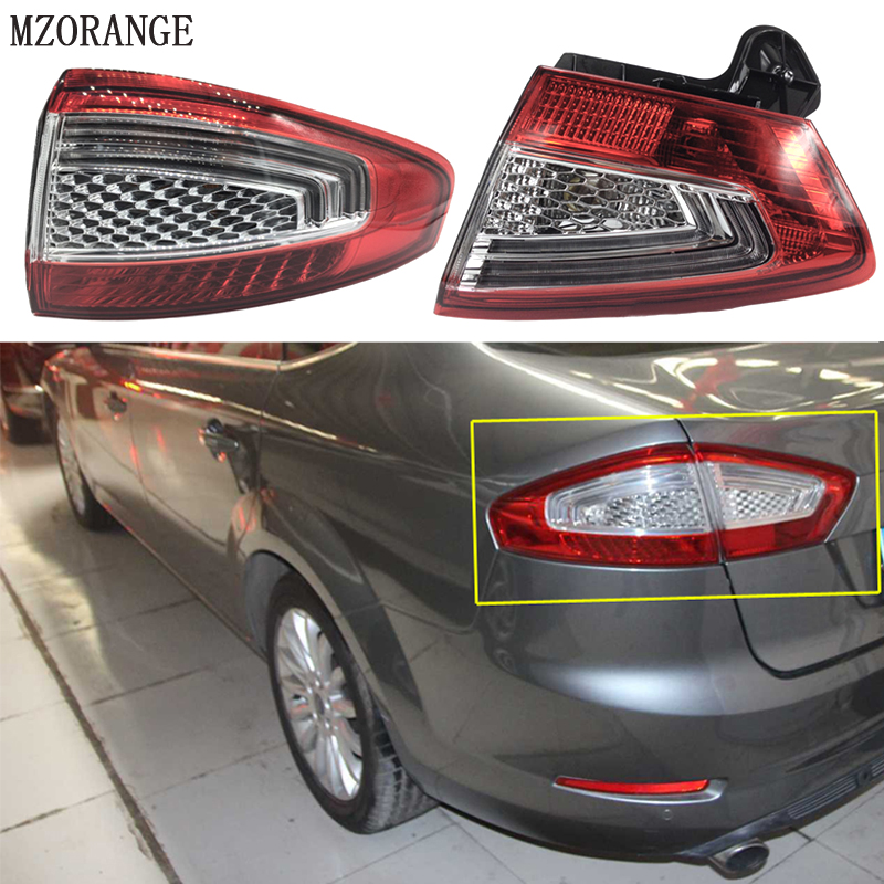 MZORANGE Left Right Outside Inside Rear Tail Light Lamp BS71 13A603 AC for Ford Mondeo Fusion