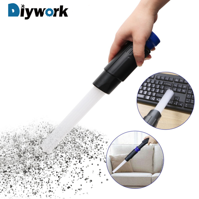 DIYWORK for Household Keyboard Air Vent Vacuum Attachment Tools Cleaning Tool Dirt Remover Dusty Brush Straw Tube Brush Cleaner