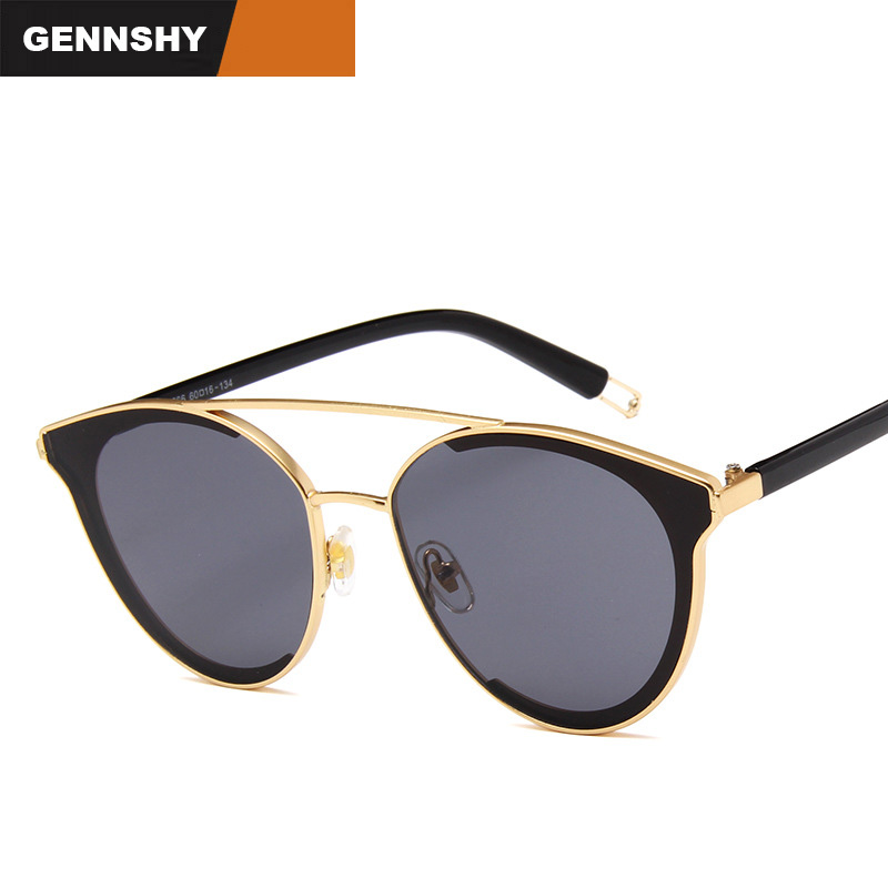 2017 New Fashion Trend Sunglasses Men Women Vintage Brand Design Eyeglasses Double Bridge Hollow Temple Eyewear Outdoor Driving Limpid In Sight