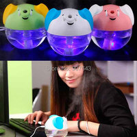 Creative Fashion Mini Portable Personal USB Lucky Elephant Home Office Air Ultrasonic Humidifier Aroma Sprayer LED