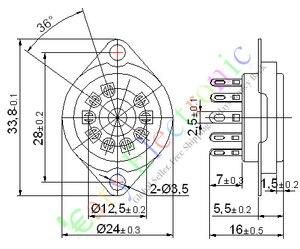 Image 2 - الجملة والتجزئة 20 قطعة 9 دبوس فراغ أنبوب المقبس التوقف جبل FR 12AX7 12AU7 ECC82 ECC83 راديو أجزاء شحن مجاني