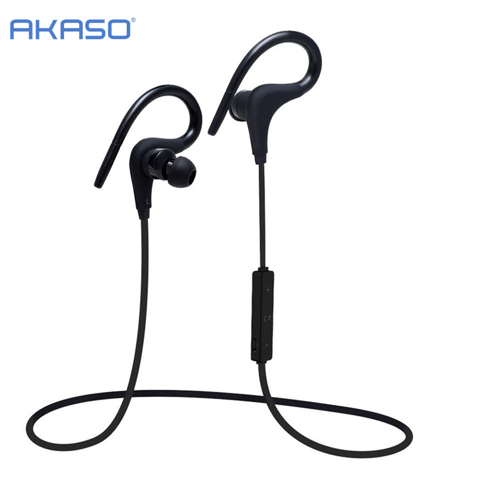 AKASO AKASO Sport Earphone Bluetooth 4.2 Headset Wireless Headphones Earbuds with Microphone ear phone for Phone huast v4 1 sport bluetooth earphone with mic wireless headphones bluetooth headset magnet earbuds for phone noise cancelling