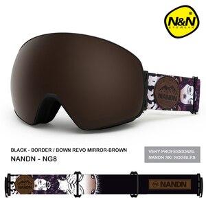 Image 4 - NANDN جديد تزلج نظارات مزدوجة الطبقات UV400 مكافحة الضباب قناع للتزلج الكبير نظارات التزلج الرجال النساء الثلوج على الجليد نظارات
