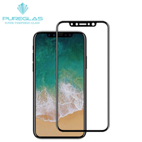 For IPhone X 10 Tempered Glass 9H Electroplated 4D Round Full Curved Edge For IPhoneX 2017