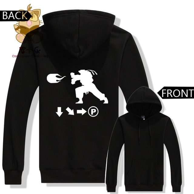 c8fc85020a88 console game PC game FTG fans hoodies super street fighter hoodies Ryu  combo list Hadoken printing hoodies ac344