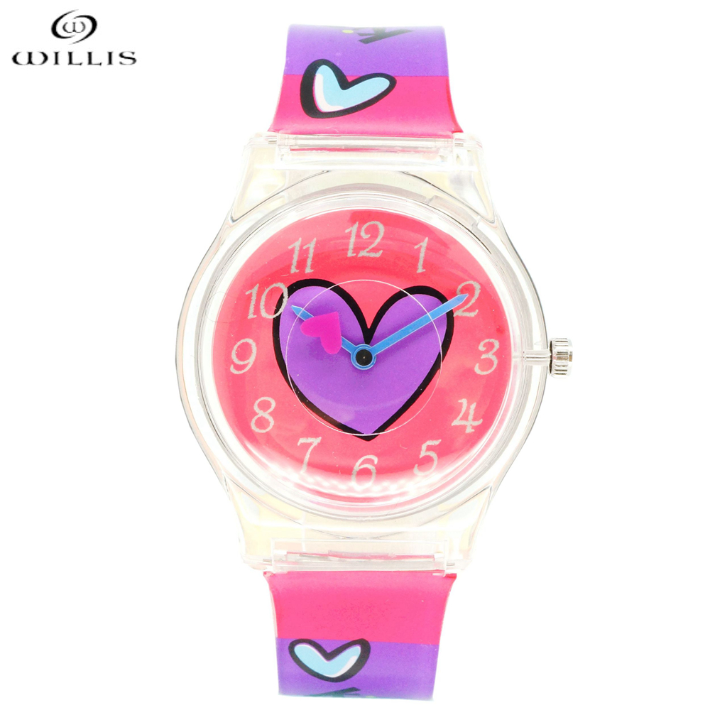 WILLIS Fashion wristwatch Harajuku Style Color Silicone Band Watch Women Simple Popular Korea Style Student Casual Quartz Clock fashion style