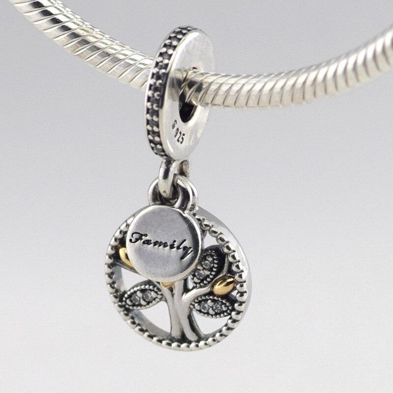 604ab70e3758 Europea Amuletos pulsera nuevo 925 familia árbol Cuentas con encanto de  plata DIY que hace la joyería fl263