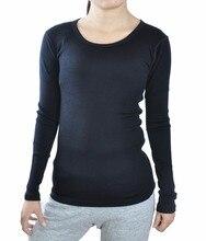 Tripulación peso medio al lado de La Piel de las mujeres (NTS) capa base 100% de pura lana merino tops ropa térmica caliente ropa interior