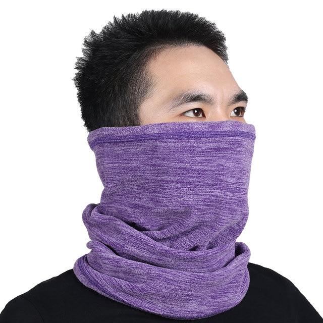 dbe6b7a8fe2 Multifunction Wool Fleece Thermal Neck Gaiter Warmer Tube Face Mask  Snowboard Balaclava Scarf Hats Cap Headband Bandana Headwear