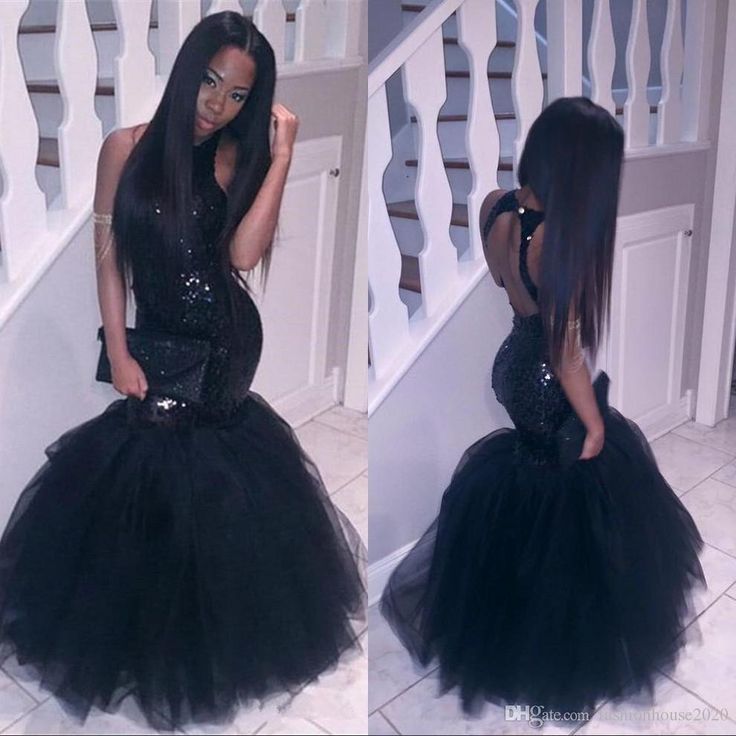 d2ca01d56dd New Arrival African Long Mermaid Prom Dress 2018 Sexy Sequined Backless Black  Prom Dresses Formal Evening Party Gowns-in Prom Dresses from Weddings    Events ...