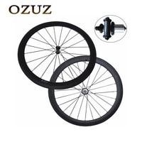 Таможенный налог бесплатная 38 мм 50 мм Глубина Велоспорт Carbon Колеса Clincher Трубчатые прямые тянуть колеса велосипеда 3 К матовая дорожный вело