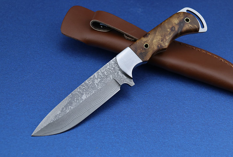 Knife Knife Damascus Steel Hunting Pocket Kitchen Edc Outdoor Survival Wood Shadow Handle Tool Camping Practical Fruit LEMIFSHE