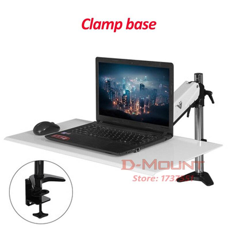 27 tilt full motion aluminum air press gas spring 7.5kg single lcd desk Mount swivel monitor table stand clamp laptop bracket