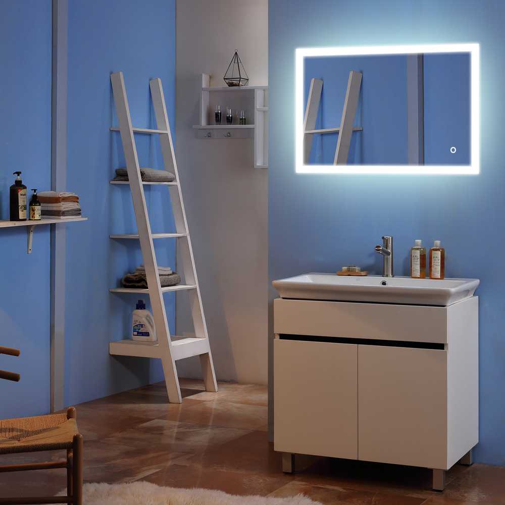 MARSWALLED Built-in/External LED Strip Light LED Touch Button LED Lighting Bathroom Mirror Vanity Bedroom Mirror Make up Mirror light mirror touch switch bathroom smart mirror switch led touch controller on mirror surface hot selling for hotel or bathroom