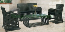 The rattan sofa of breathable,wicker sofa set designs