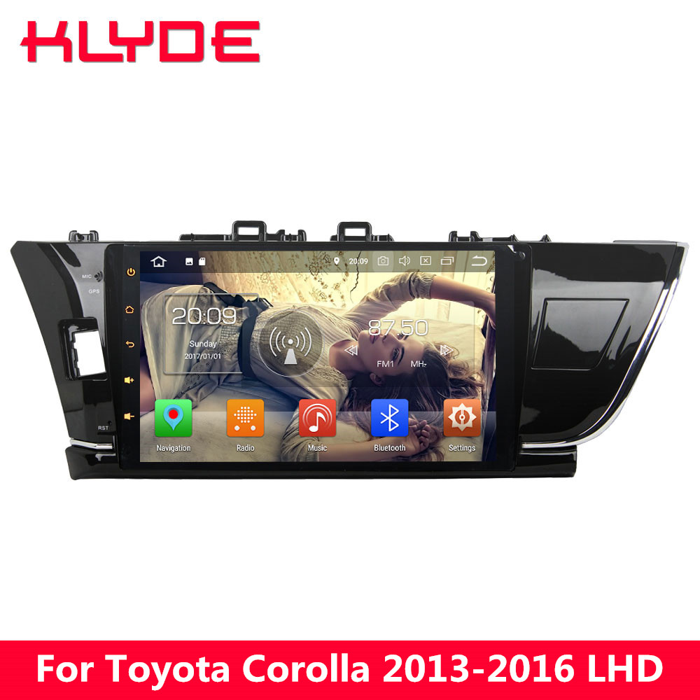 KLYDE 10.1 4G Octa Core 4GB RAM 32GB ROM Android 8 Car DVD Multimedia Player Radio GPS Navigation For Toyota Corolla 2013-2016